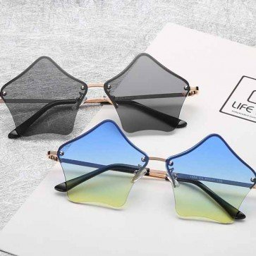 Funky rimless star shaped sunglasses satisfy your crave