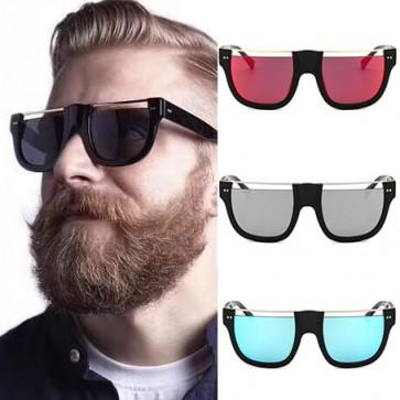 Gold-tone Top Bar Aviator Retro Hollow Out Sunglasses
