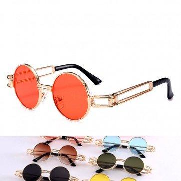 Steampunk Ultra Sleek Double Leg Rims Retro Sunglasses
