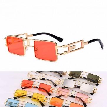 Vintage steampunk mini square candy lens sunglasses