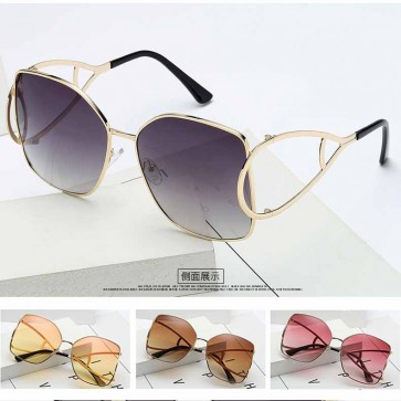 Water Drop shaped temple oversize butterfly sunglasses
