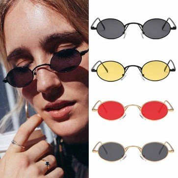 Lightweight Round Sunglasses with Colorful Candy Lens