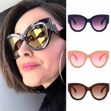 Elegant vintage women multicolored cat eye sunglasses