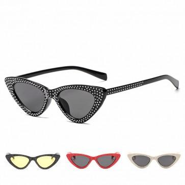 Elegant vintage women rhinestone cat eye sunglasses