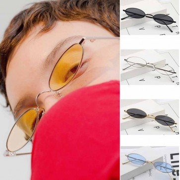 Vintage candy tinted flat lens mini cute sunglasses