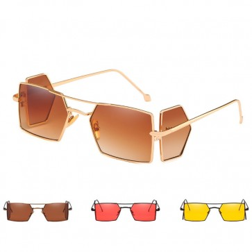 Tiny flat lens punk sunnies small square sunglasses