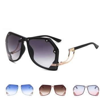 Pilot sunglasses sleek metal legs geometric shades