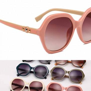 Oversized Hexagon Sunglasses Multi-Color Rim Eyewear