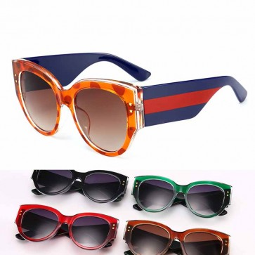 Mod Candy Colored Chic High Pointed Cat-Eye Sunglasses