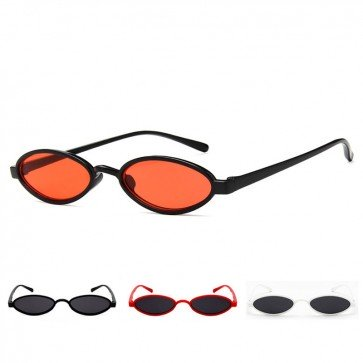 Small oval sunglasses steampunk vintage flat lens