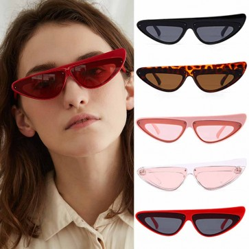 Womens Thick Plastic Retro Vintage Cat Ear Sunglasses