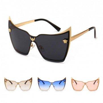 Cat Eye Sunglasses Shades Vogue Female Metal Frame