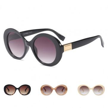 Translucent Flat Lens Retro Oversized Round Sunglasses