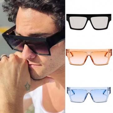 Unisex oversize square retro block hipster sunglasses