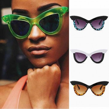Octagon Sunglasses Flat Translucent Lens Metal Frame