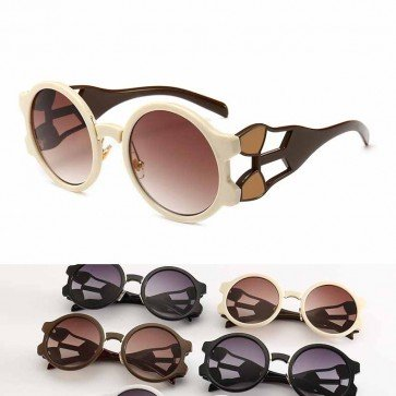 Gradient Tinted Multicolor Oversized Round Sunglasses