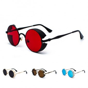 Round Steampunk Sunglasses Side Shields Boho Sunnies