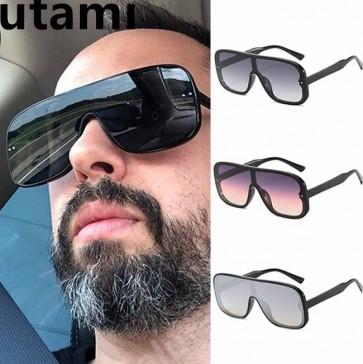 Futuristic Flat Top One Piece Sunglasses Shield Lens