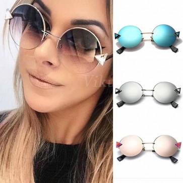 Bling Round Sunglasses Women Eyewear w/ Crystal Arrows