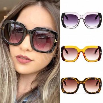 Gradient Tint Square Oversize Multicolored Sunglasses