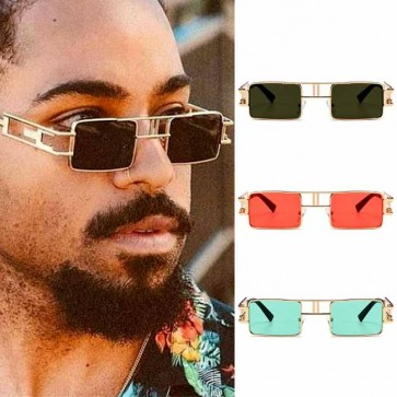 Vintage steampunk mini square candy lens sunglasses