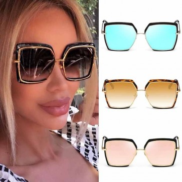 Retro Appeal Full Coverage Oversized Square Sunglasses