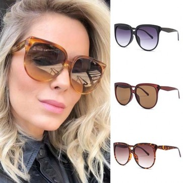 Dome shaped flat top round bottom oversize sunglasses