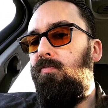Boxy Frame Polarized Lens Square Driving Sunglasses