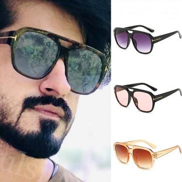D frame chic distinctive square vintage sunglasses