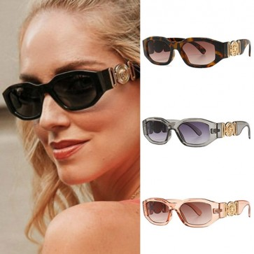 Gold Tone Logo Steam Punk Cat Eye Sunglasses