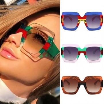 Multicoloured Sporty Oversized Square Sunglasses