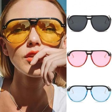 Classic Aviator Sunglasses Side Shield Colored Lens