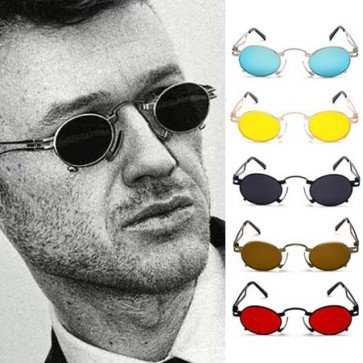 Retro Oval Small Punk Sunglasses Tiny Gothic Frame