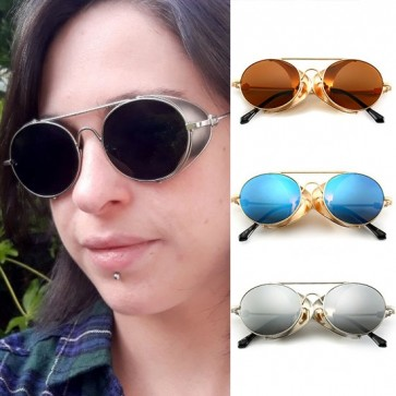 Side shields eye protection vintage punk sunglasses