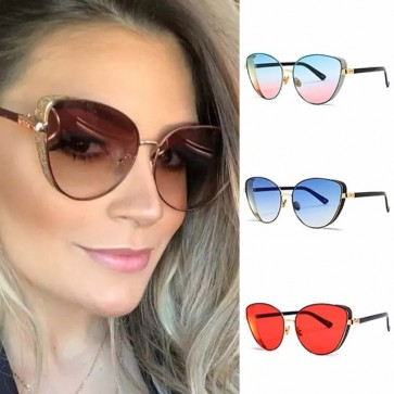 Ladies Revo Side Shields Oversized Cat Eye Sunglasses
