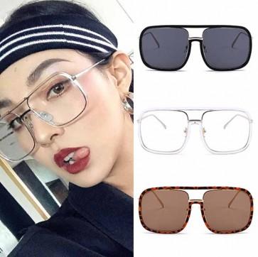 Classic Aviator Style Sunglasses Metal Frame Colored Lens