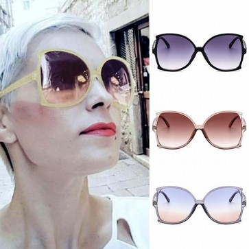 Oversize Curved Shades Butterfly Sunglasses for Ladies