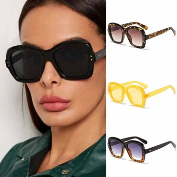 Square Sunglasses Cute Geometric Acetate Frame