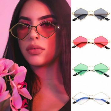 Vintage Rhombus Ultra Light Frame Small Sunglasses