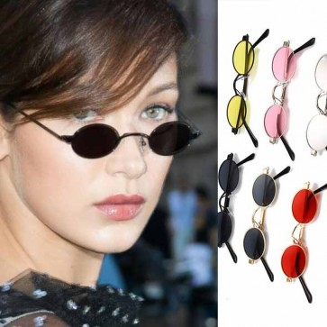 Tiny Sunglasses Solid Tint Mini Small Oval Shades