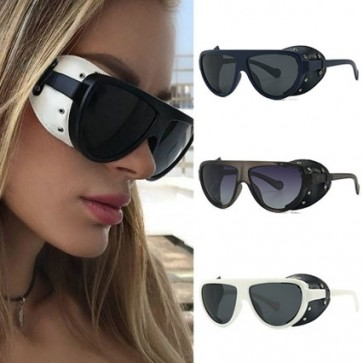 Punk Antique Goggles Leather Side Shields Sunglasses