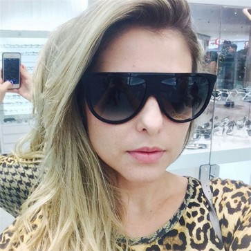 Elegant vintage women flat top cat eye sunglasses