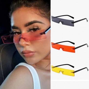 Summer Small Rectangle Sunglasses One Piece Eyewear