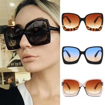 Oversize Frame Square Sunglasses Vintage Big Shades