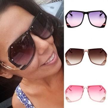 Pilot sunglasses sleek metal legs geometric shades