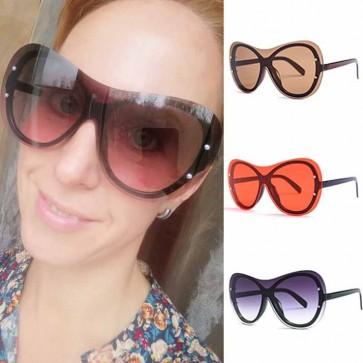 Unique Oversized One Piece Lens Butterfly Sunglasses