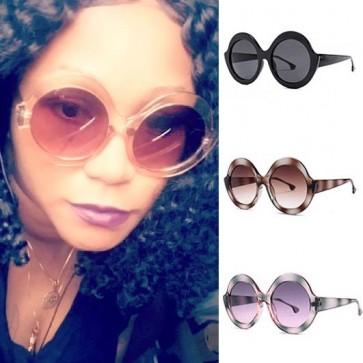 Vintage oversized round circle lens fashion shades