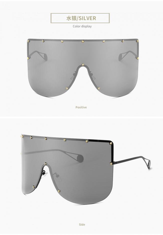 b5734ef16f Oversize aviation one piece lens wrap around sunglasses