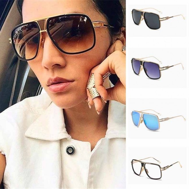 ca202796f9 Large metal oversize frame cops aviators sunglasses · Zoom