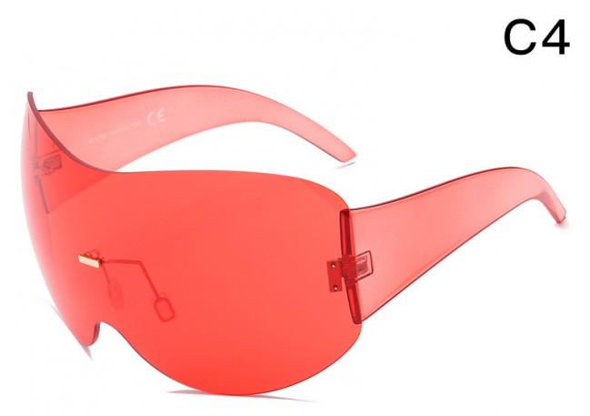 f84bd5506e3 Wraparound Shield Super Oversized Aviator Sunglasses